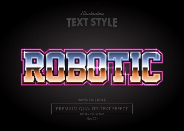Effetto testo di illustrator robot