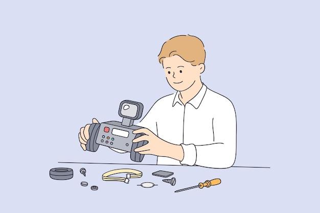 Concetto di apprendimento dell'intelligenza della tecnologia robotica