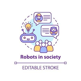 Robot nella composizione della società