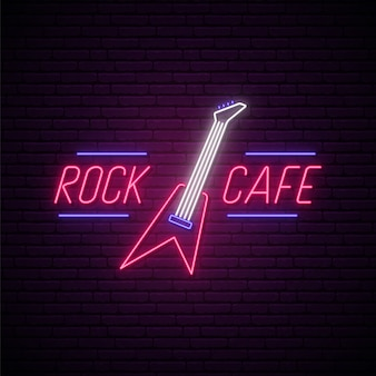Insegna al neon del rock cafe.