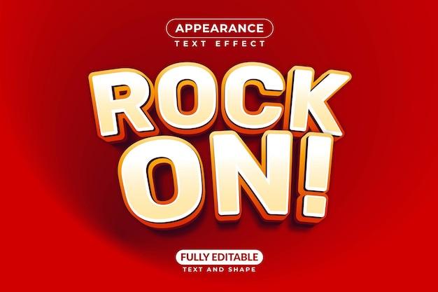 Rock on guitar music band effetto testo