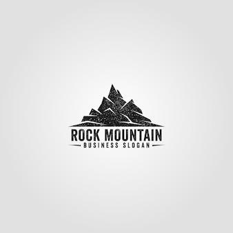 Il modello di logo di rock mountain