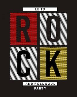 Maglietta tipografica rock and roll per stampa