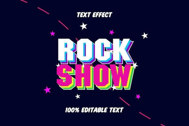 Effetto di testo modificabile rock show