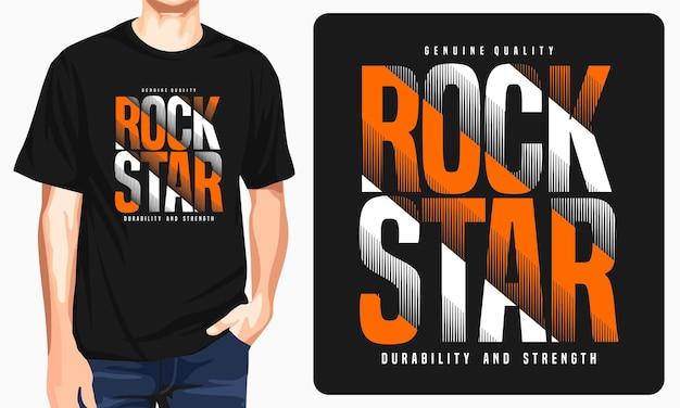 Maglietta grafica rock star per uomo