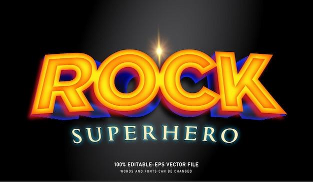 Rock superhero testo effetto font modificabile