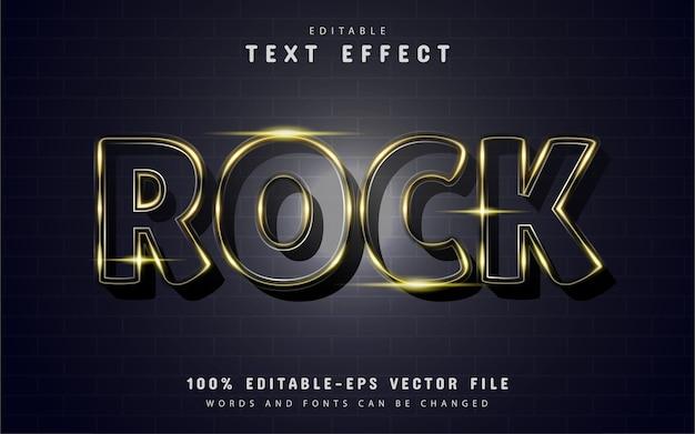 Effetto testo rock con scintillii dorati