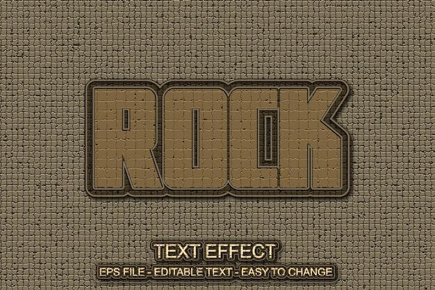 Stile di effetto testo trama rock