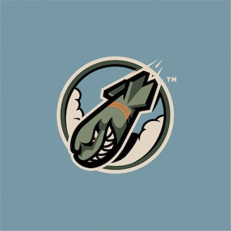Logo della mascotte di rocket inc