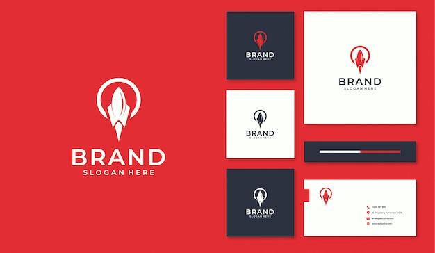 Logo rocket e business card design