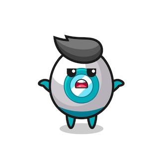 Personaggio mascotte del razzo che dice non lo so, design in stile carino per maglietta, adesivo, elemento logo