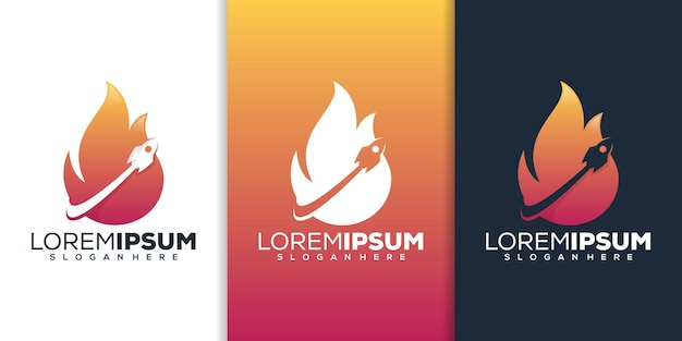 Razzo con design del logo del fuoco