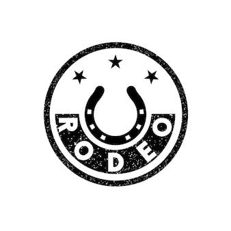 Modello di progettazione del logo del rodeo