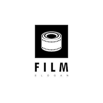 Modello di progettazione del logo del film in rotolo