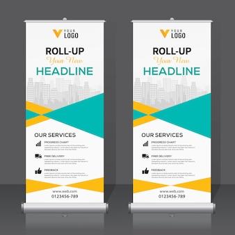Roll up banner template design