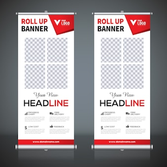 Arrotola i modelli di design per banner