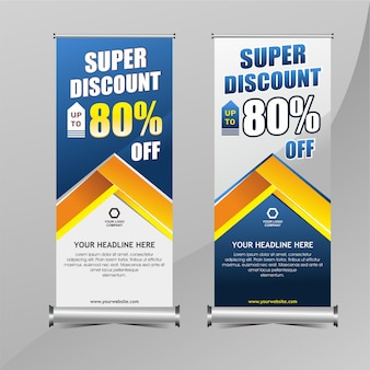 Roll up banner promotion