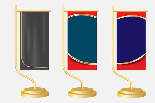 Disegnare il modello di base del banner. modello grafico per mostre, banner, collocazione di foto. stand universale per conferenza, sfondo vettoriale banner promo.