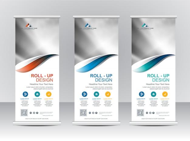 Roll up xbanner stand template design