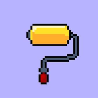 Pennello a rullo con stile pixel art