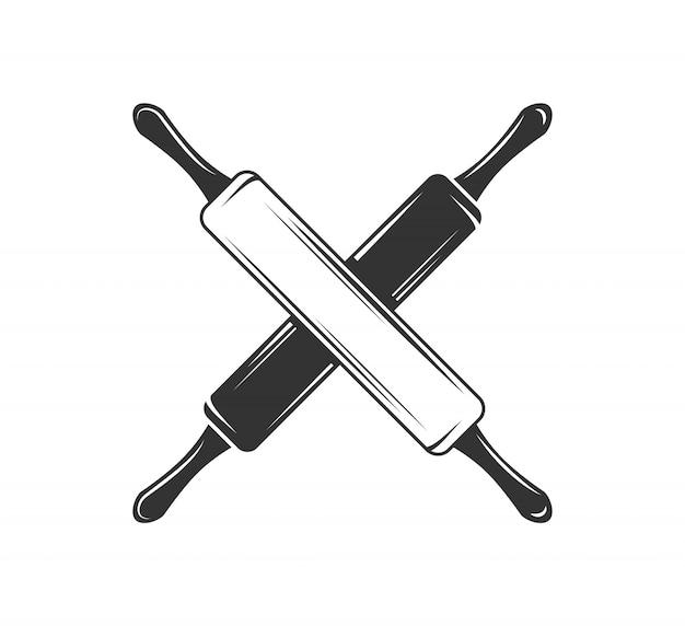 Mattarello illustrazione isolata
