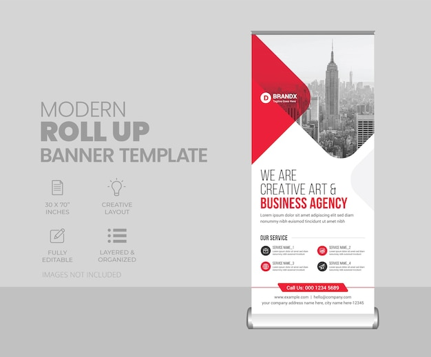 Modello di progettazione banner rollup