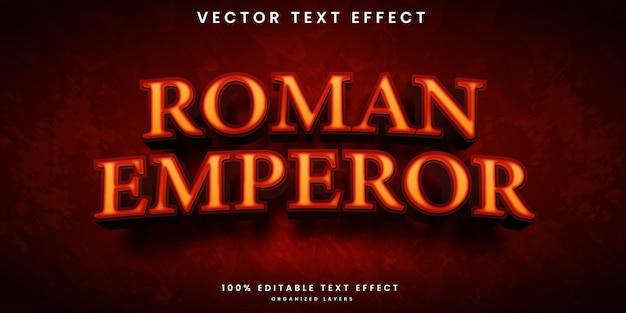 Effetto di testo modificabile dell'imperatore romano