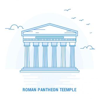Tempio di pantheon romano blu punto di riferimento