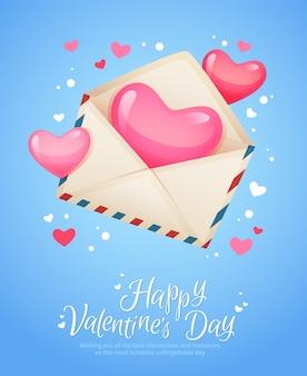 Cartolina romantica della lettera di posta aerea retro