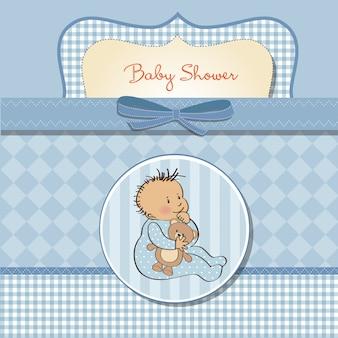 Scheda romantica della doccia del neonato