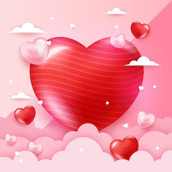 Sfondo romantico con cuore di forma