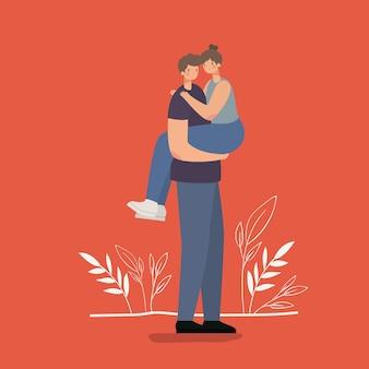 Abbracciare delle coppie romantiche