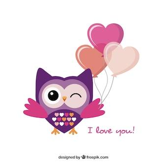 Romantico piatto owl