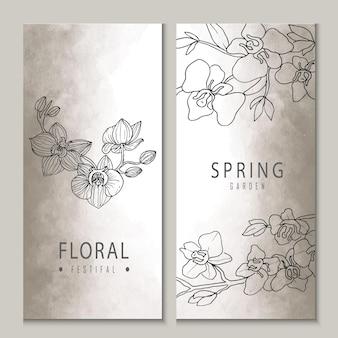 Carta di invito matrimonio floreale romantico festival floreale del giardino di primavera