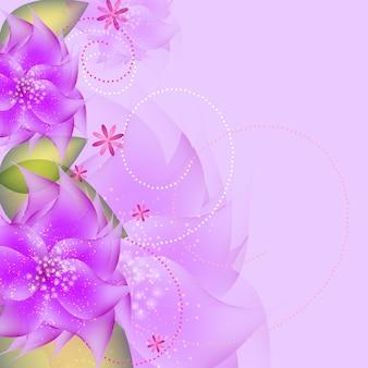 Sfondo vettoriale di fiori romantici