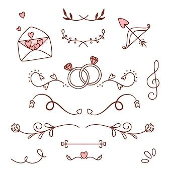Set di amore romantico