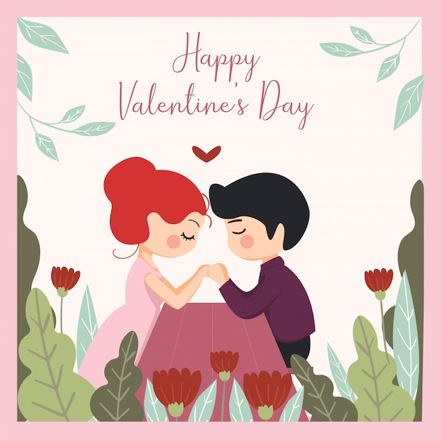 Insieme romantico di illustrazioni carine. storia d'amore, relazione. per san valentino