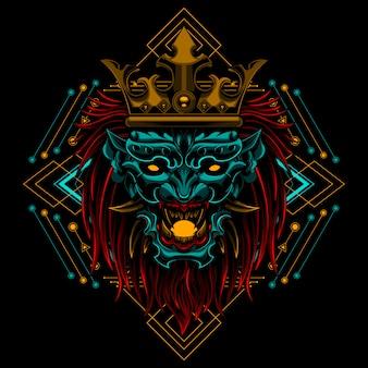 Arte dell'illustrazione di ronin devil king