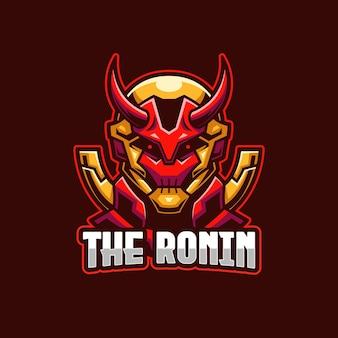 Il modello di logo ronin esports