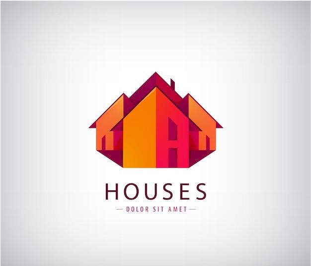 Loghi del tetto, costruzione di case, immobili.