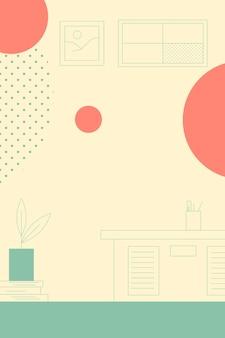 Stanza nel vettore di sfondo di design piatto