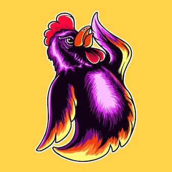 Illustrazione vettoriale di carattere gallo