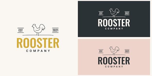 Progettazione del modello di logo della società del gallo
