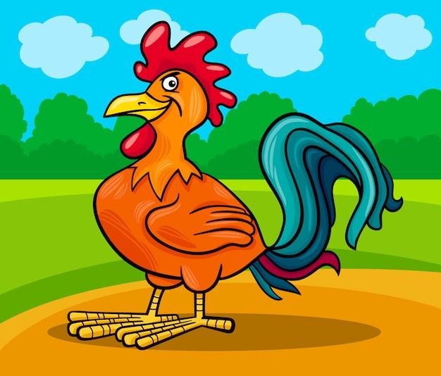 Illustrazione del fumetto animale fattoria gallo