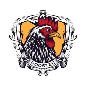 Illustrazione di disegno della testa del gallo