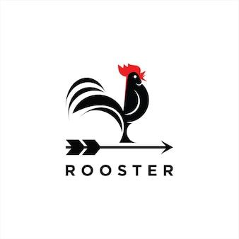 Logo del gallo semplice moderno