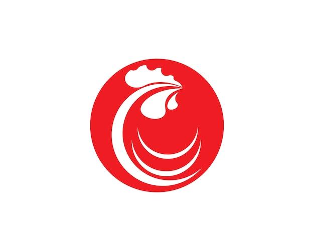 Modello del gallo logo