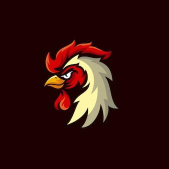 Disegno logo mascotte gallo