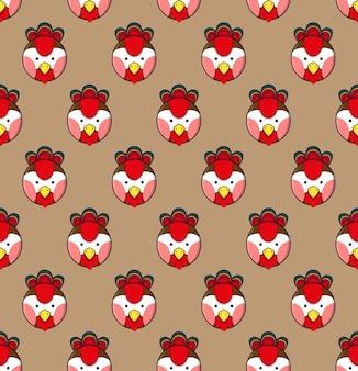 Gallo senza cuciture su fondo marrone