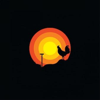 Logo della siluetta del gallo